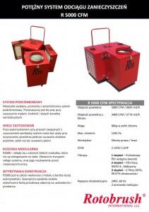 Rotobrush R5000 system odciągu zanieczyszczeń